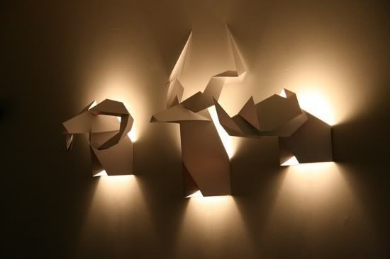 Veronica Posada origami-wall-lamp